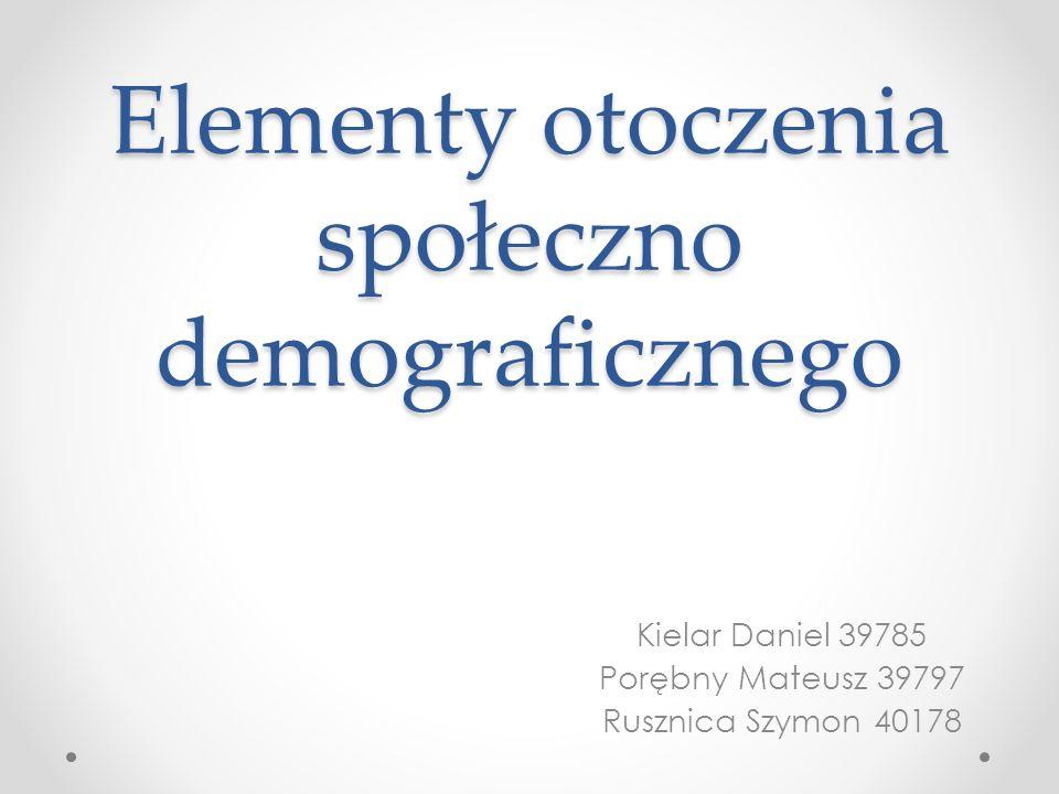 Elementy otoczenia społeczno demograficznego