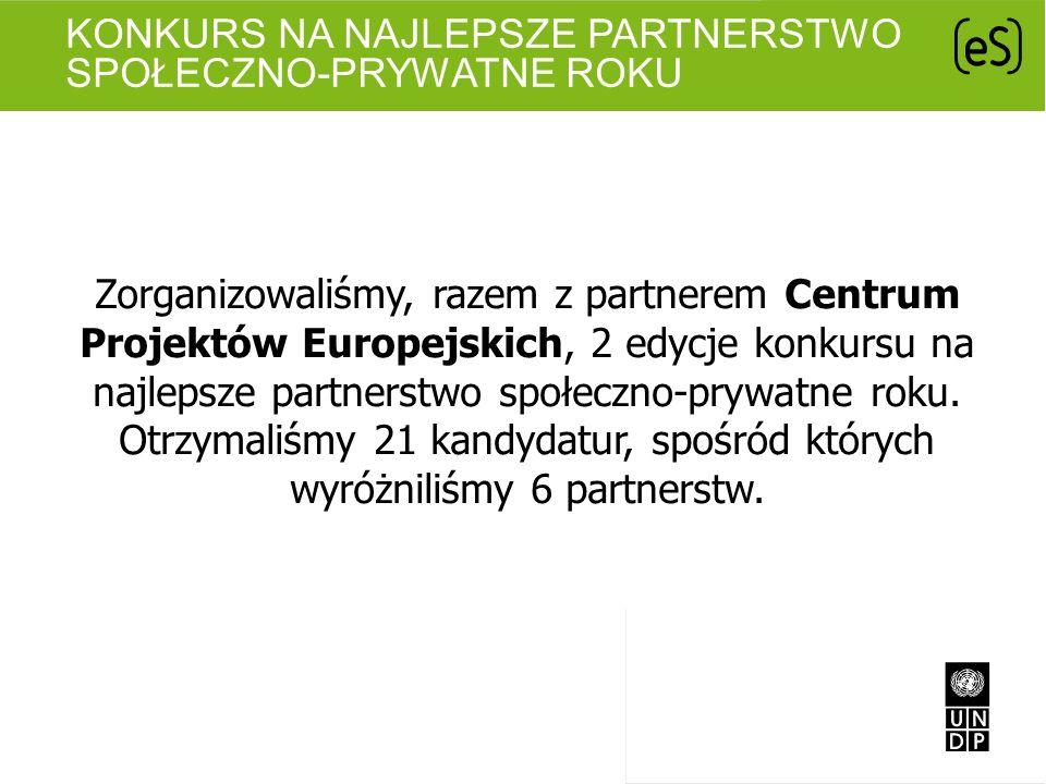 Konkurs na najlepsze partnerstwo społeczno-prywatne roku