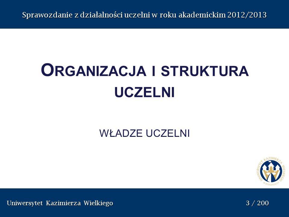 Organizacja i struktura uczelni