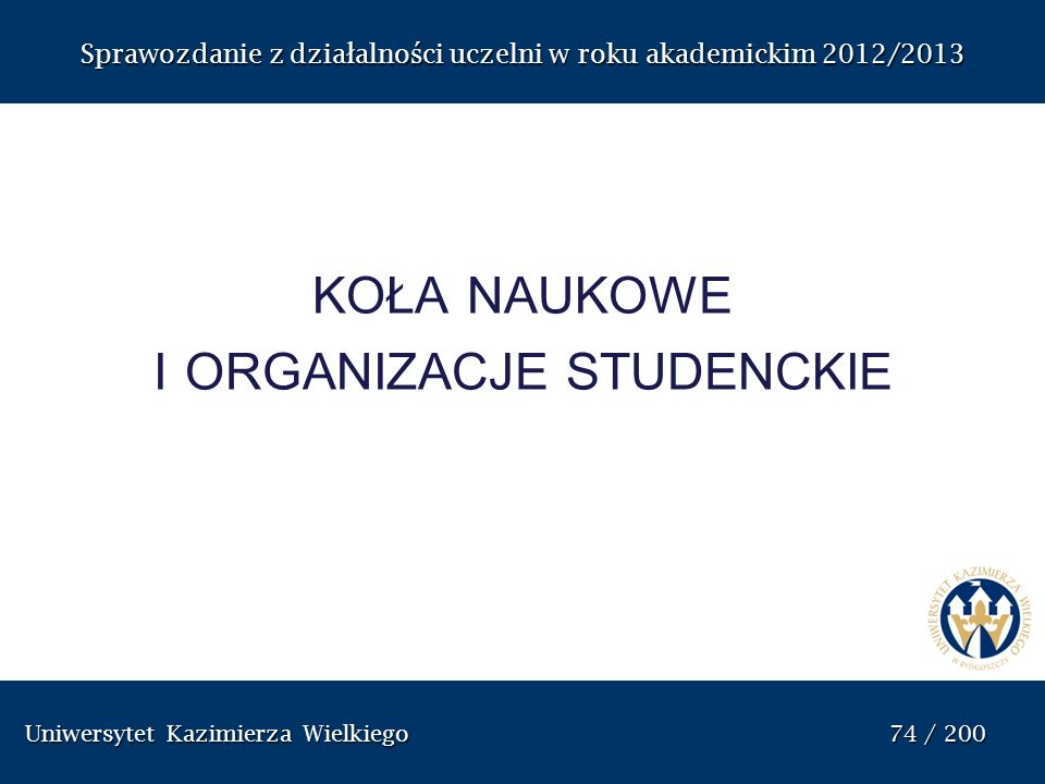 koła naukowe i organizacje studenckie
