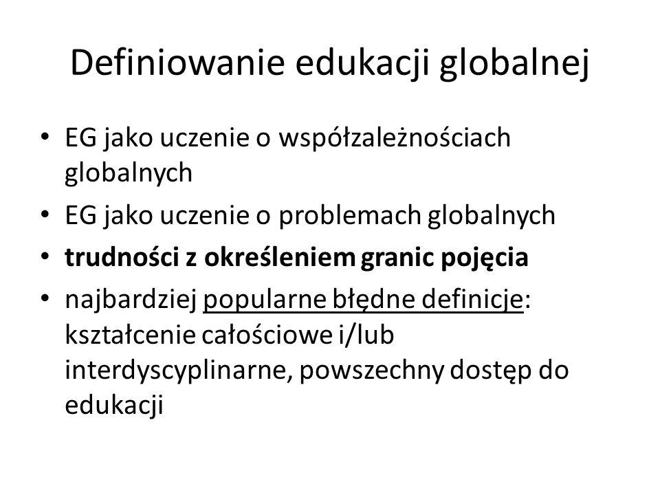 Definiowanie edukacji globalnej