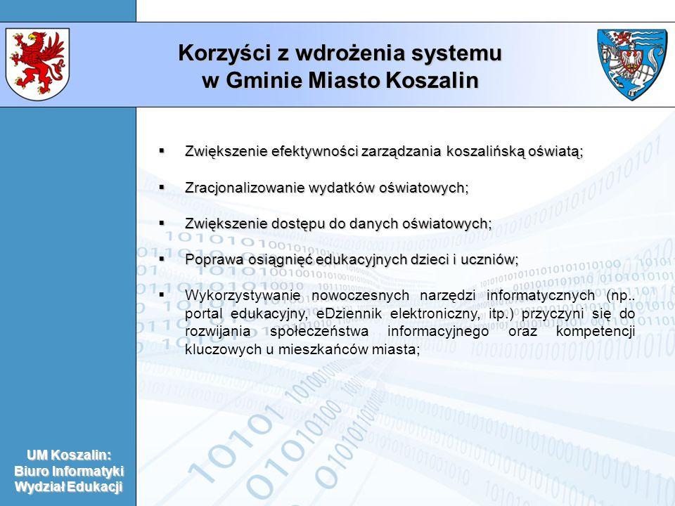 Korzyści z wdrożenia systemu w Gminie Miasto Koszalin
