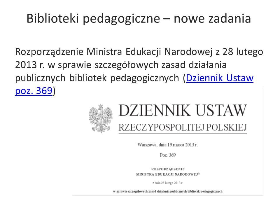 Biblioteki pedagogiczne – nowe zadania
