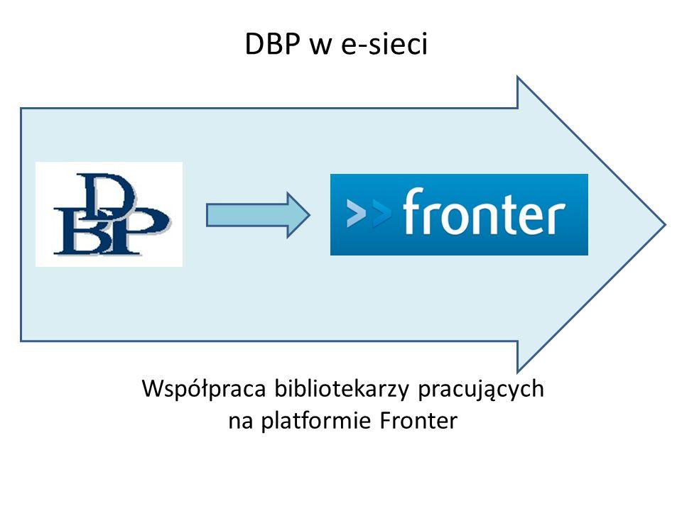 Współpraca bibliotekarzy pracujących na platformie Fronter