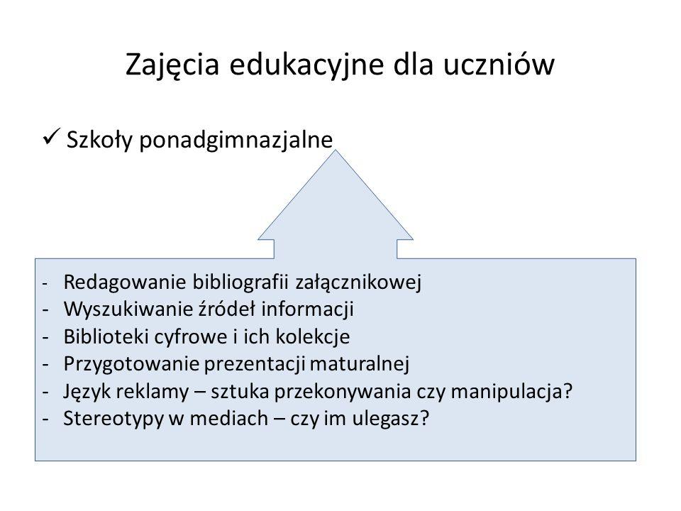 Zajęcia edukacyjne dla uczniów