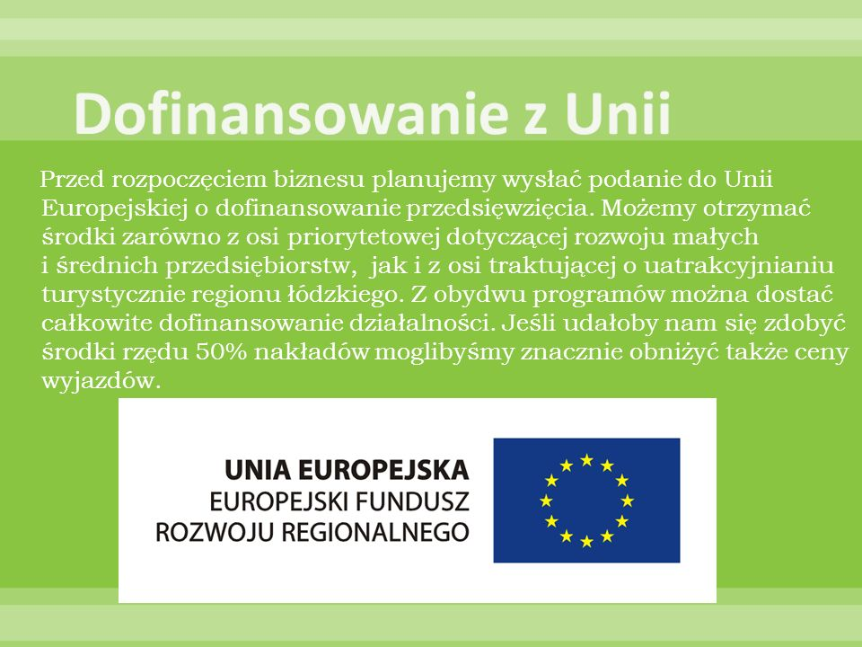 Dofinansowanie z Unii