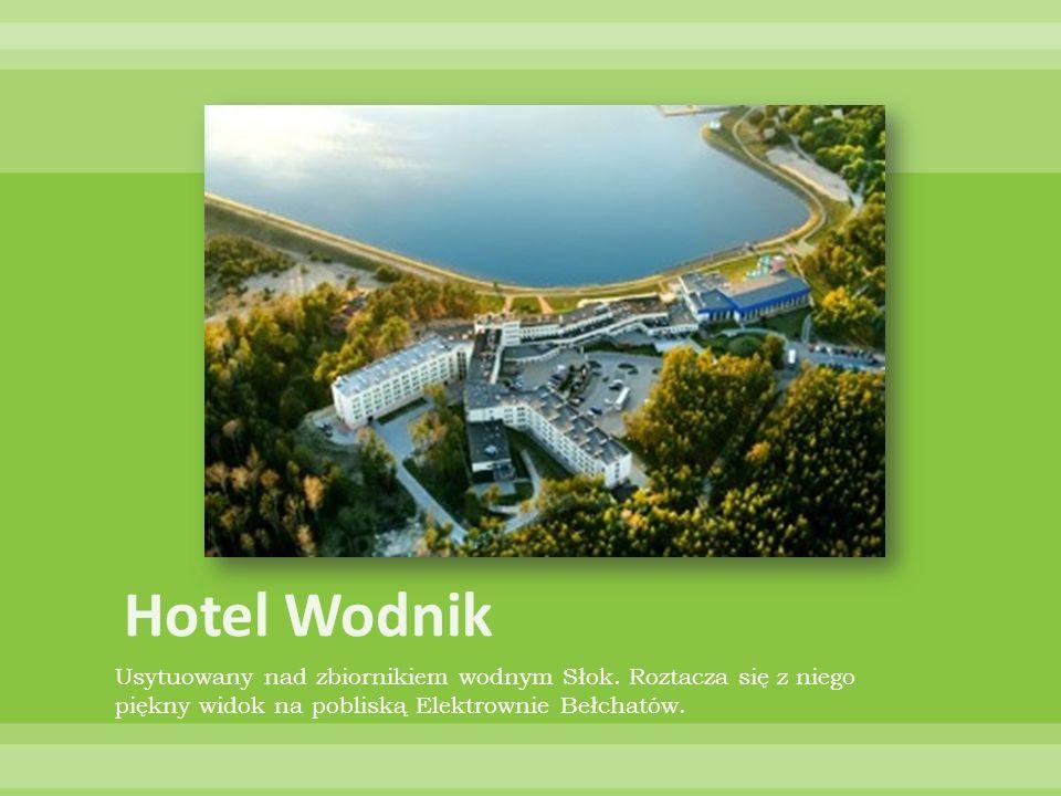 Hotel Wodnik Usytuowany nad zbiornikiem wodnym Słok.