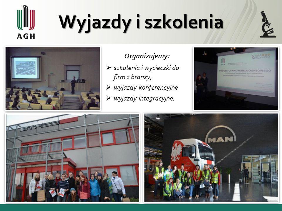 Wyjazdy i szkolenia Organizujemy: