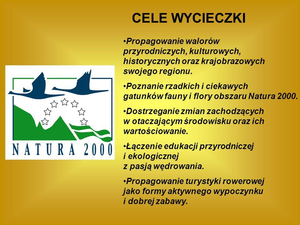CELE WYCIECZKI Propagowanie walorów przyrodniczych, kulturowych, historycznych oraz krajobrazowych swojego regionu.