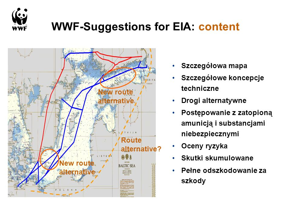WWF-Suggestions for EIA: content