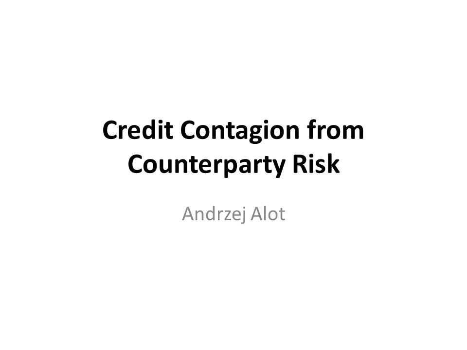 Credit Contagion from Counterparty Risk