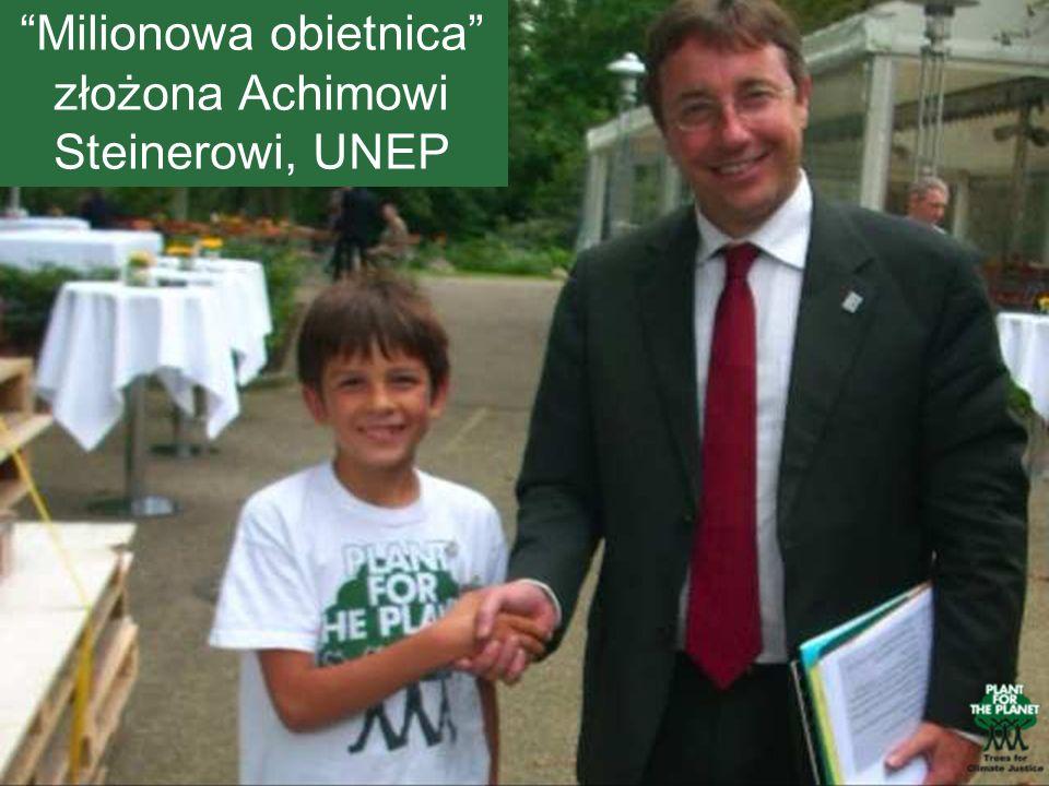 Milionowa obietnica złożona Achimowi Steinerowi, UNEP