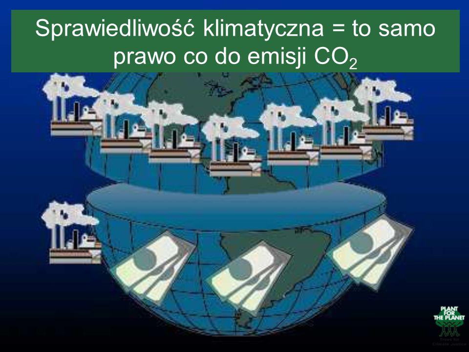 Sprawiedliwość klimatyczna = to samo prawo co do emisji CO2