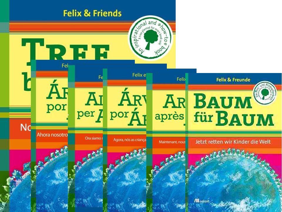 """My, dzieci, napisaliśmy również wspólnie książkę : """"Baum für Baum – Jetzt retten wir Kinder die Welt! (""""Drzewo za drzewem – Teraz my, dzieci, ratujemy świat! ) Wyjaśnia ona, jak się wszystko zaczęło, co to jest Plant-for-the-Planet i jak wygląda przebieg akademii."""