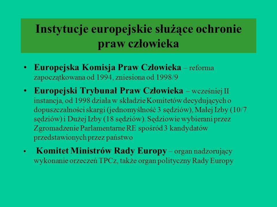 Instytucje europejskie służące ochronie praw człowieka
