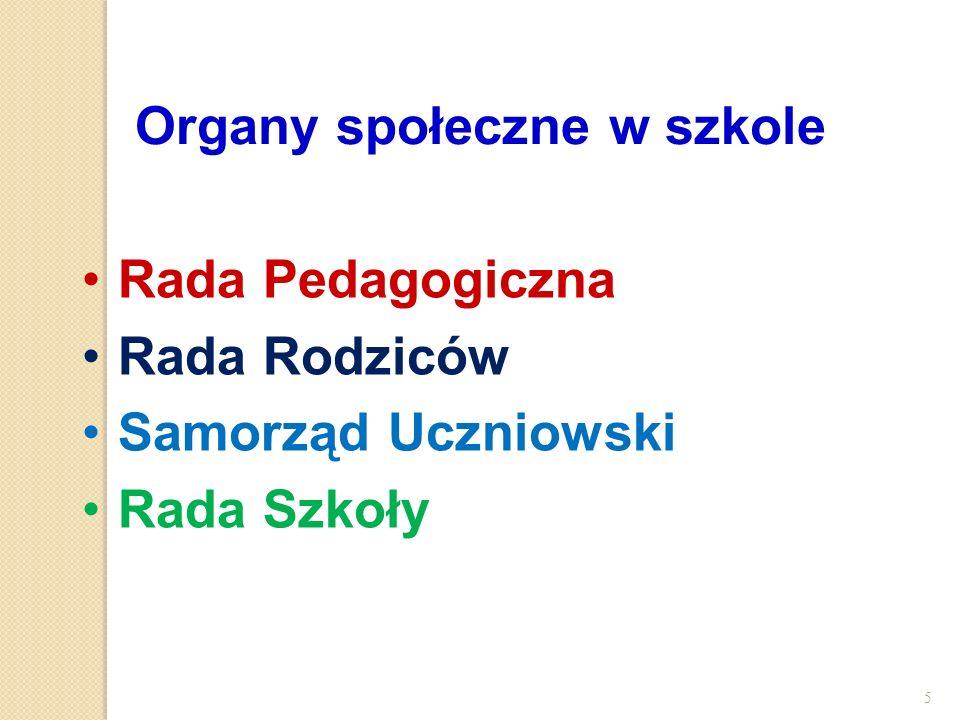 Organy społeczne w szkole