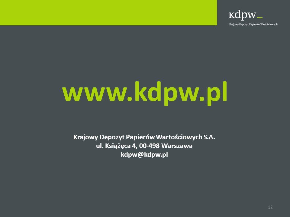 Krajowy Depozyt Papierów Wartościowych S.A.