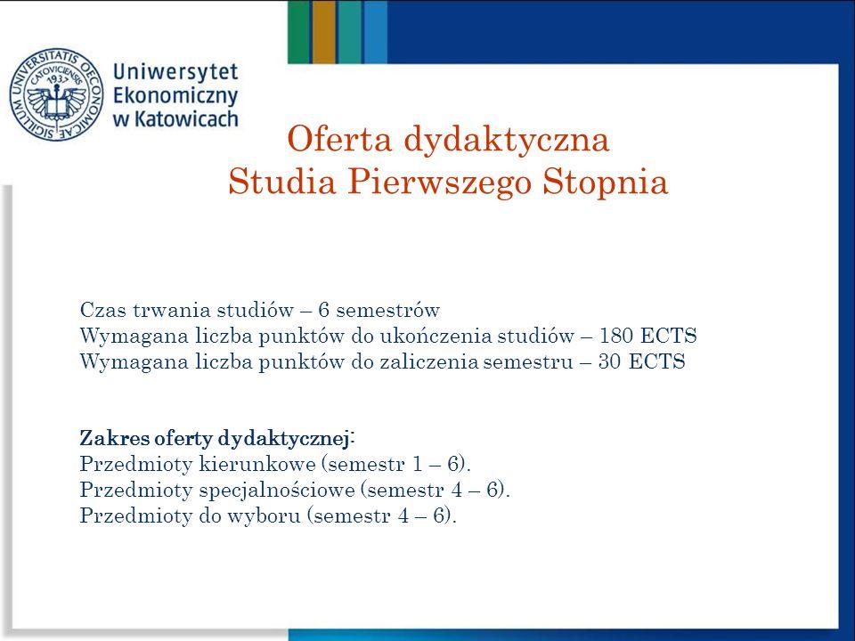 Oferta dydaktyczna Studia Pierwszego Stopnia