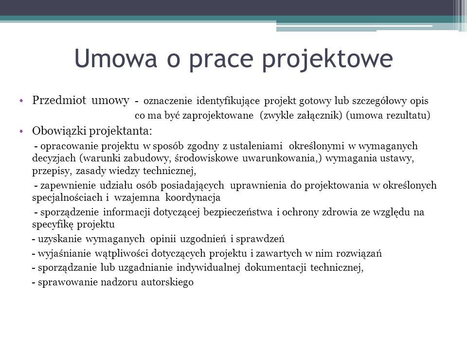 Umowa o prace projektowe