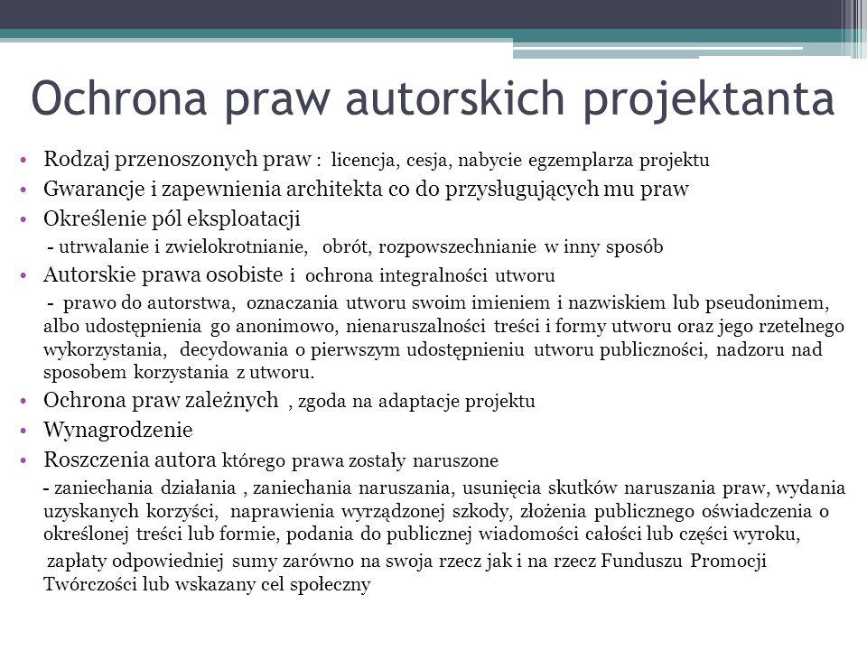 Ochrona praw autorskich projektanta