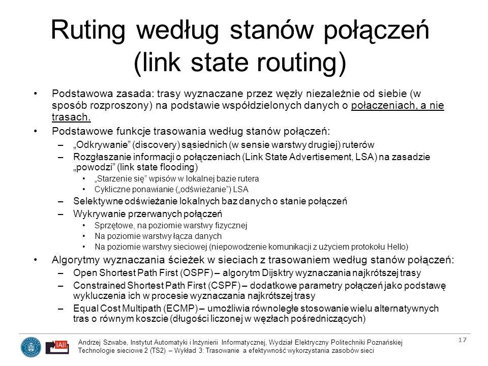 Ruting według stanów połączeń (link state routing)