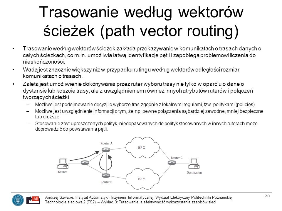 Trasowanie według wektorów ścieżek (path vector routing)