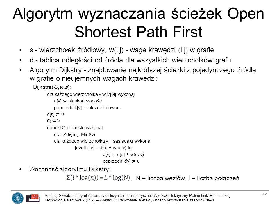 Algorytm wyznaczania ścieżek Open Shortest Path First