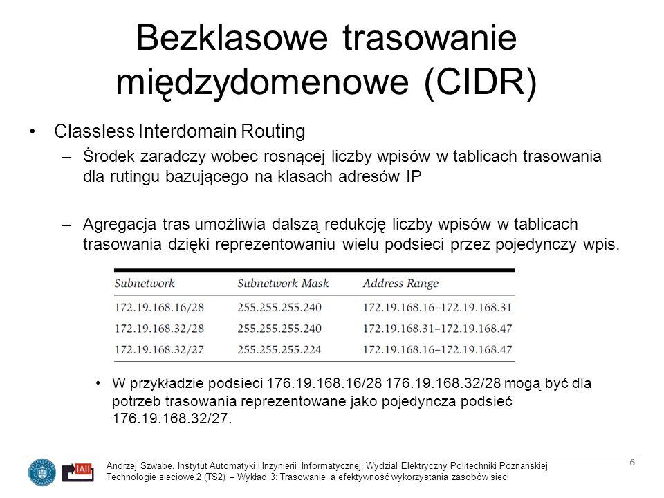 Bezklasowe trasowanie międzydomenowe (CIDR)