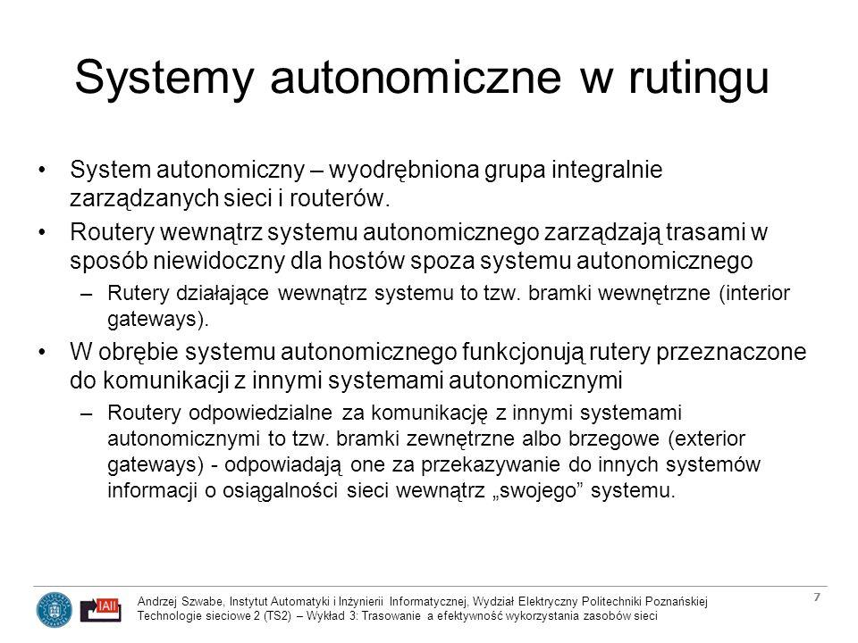 Systemy autonomiczne w rutingu