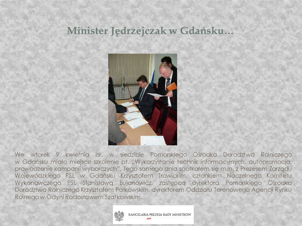 Minister Jędrzejczak w Gdańsku…