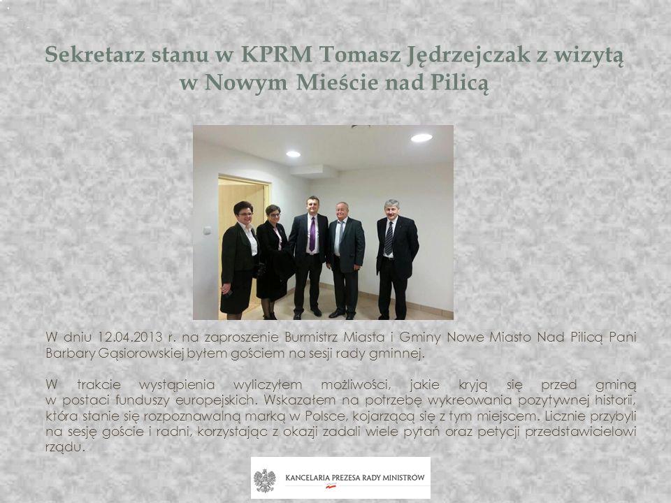 Sekretarz stanu w KPRM Tomasz Jędrzejczak z wizytą w Nowym Mieście nad Pilicą