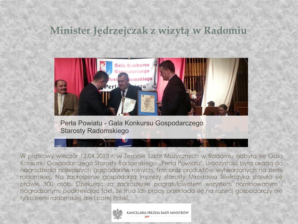Minister Jędrzejczak z wizytą w Radomiu