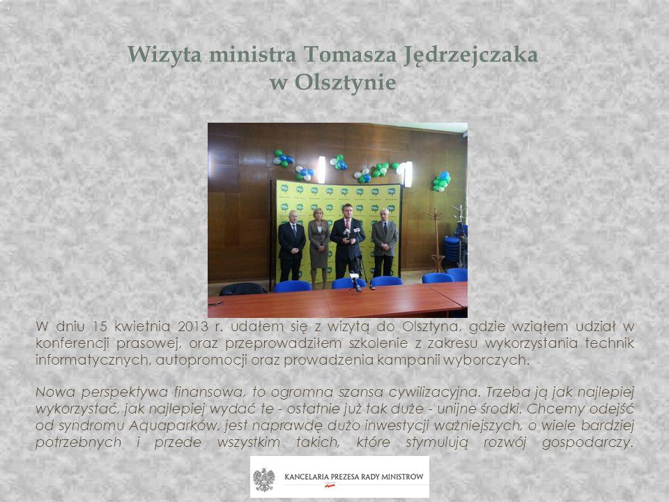 Wizyta ministra Tomasza Jędrzejczaka w Olsztynie