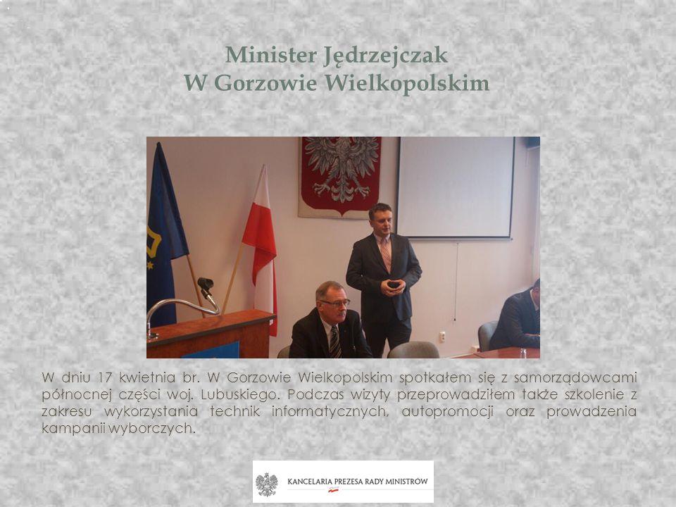 Minister Jędrzejczak W Gorzowie Wielkopolskim