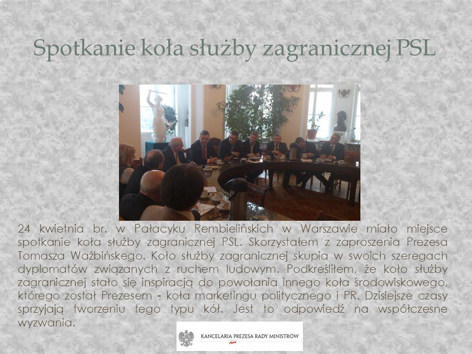 Spotkanie koła służby zagranicznej PSL