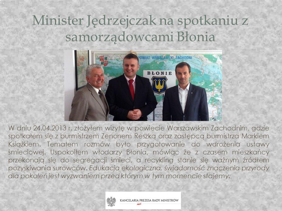 Minister Jędrzejczak na spotkaniu z samorządowcami Błonia