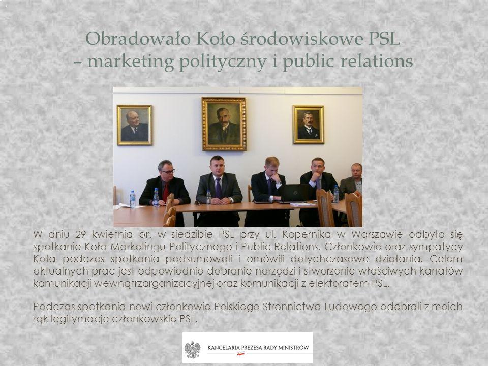 Obradowało Koło środowiskowe PSL – marketing polityczny i public relations