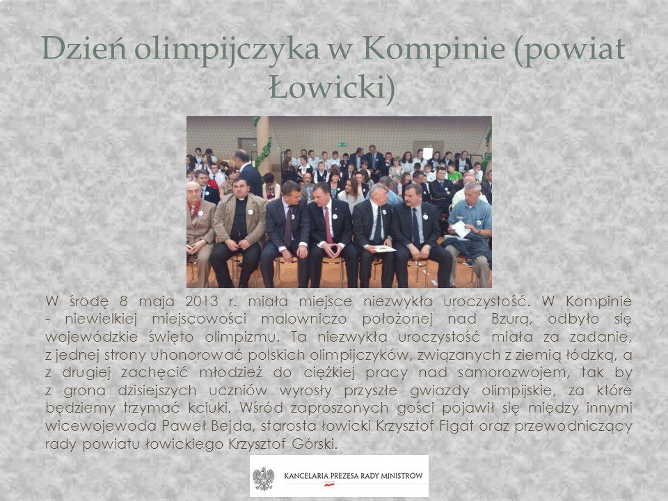 Dzień olimpijczyka w Kompinie (powiat Łowicki)