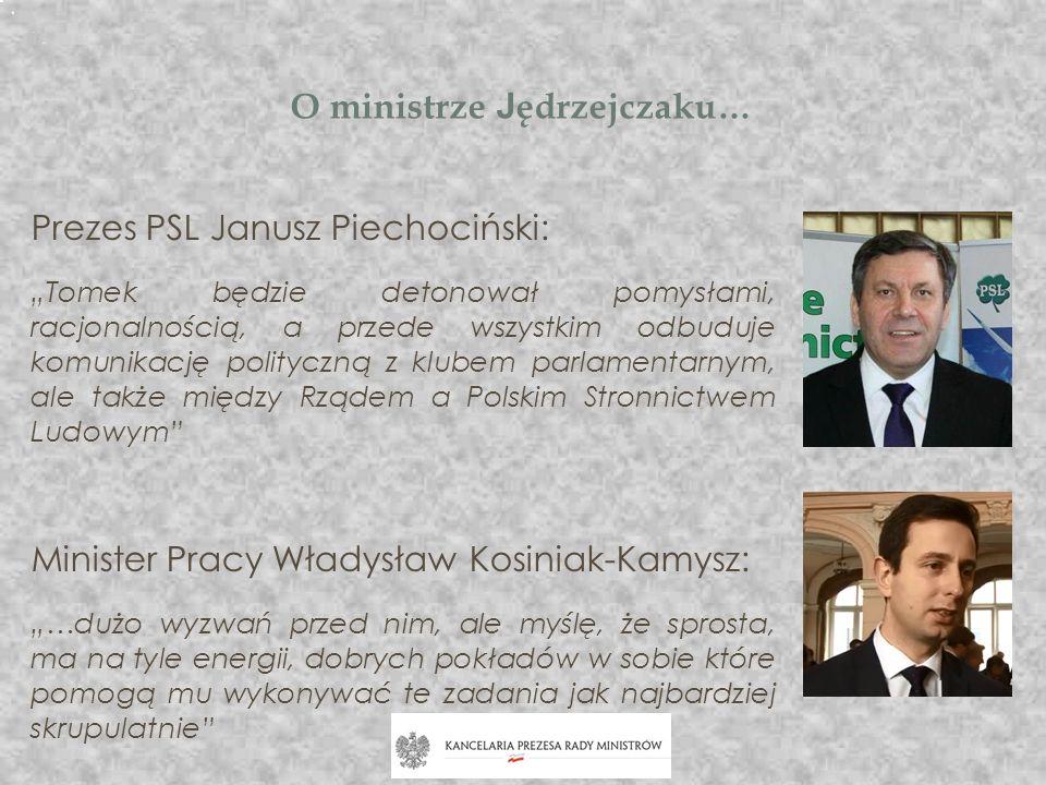 O ministrze Jędrzejczaku…