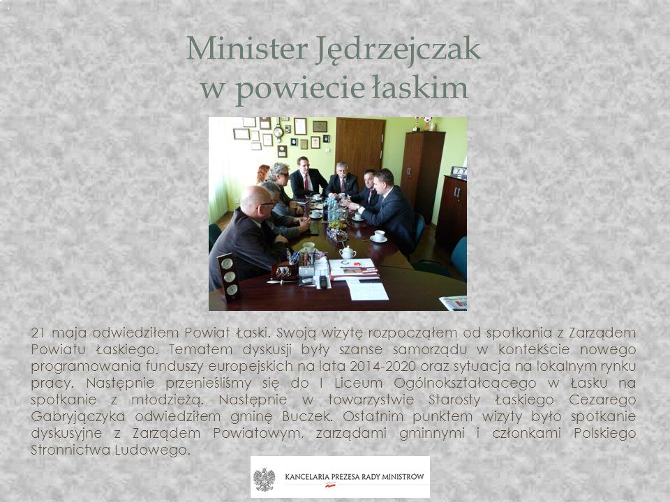 Minister Jędrzejczak w powiecie łaskim