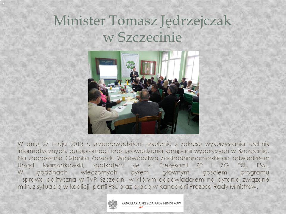 Minister Tomasz Jędrzejczak w Szczecinie