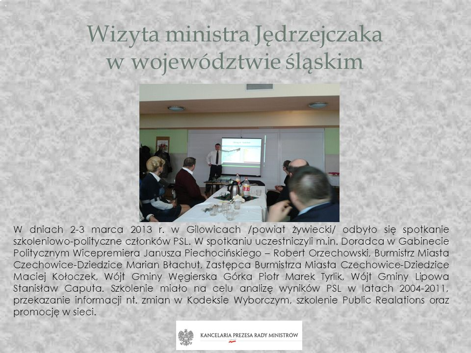 Wizyta ministra Jędrzejczaka w województwie śląskim