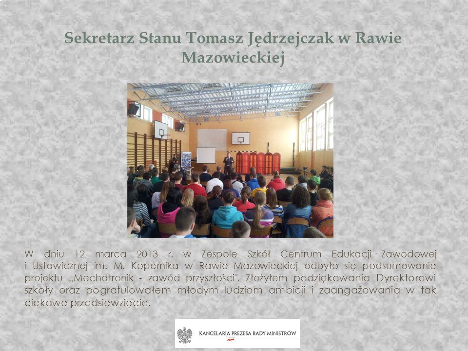 Sekretarz Stanu Tomasz Jędrzejczak w Rawie Mazowieckiej
