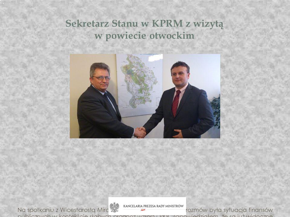 Sekretarz Stanu w KPRM z wizytą w powiecie otwockim