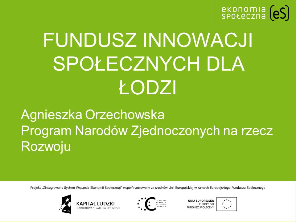Fundusz Innowacji Społecznych dla Łodzi