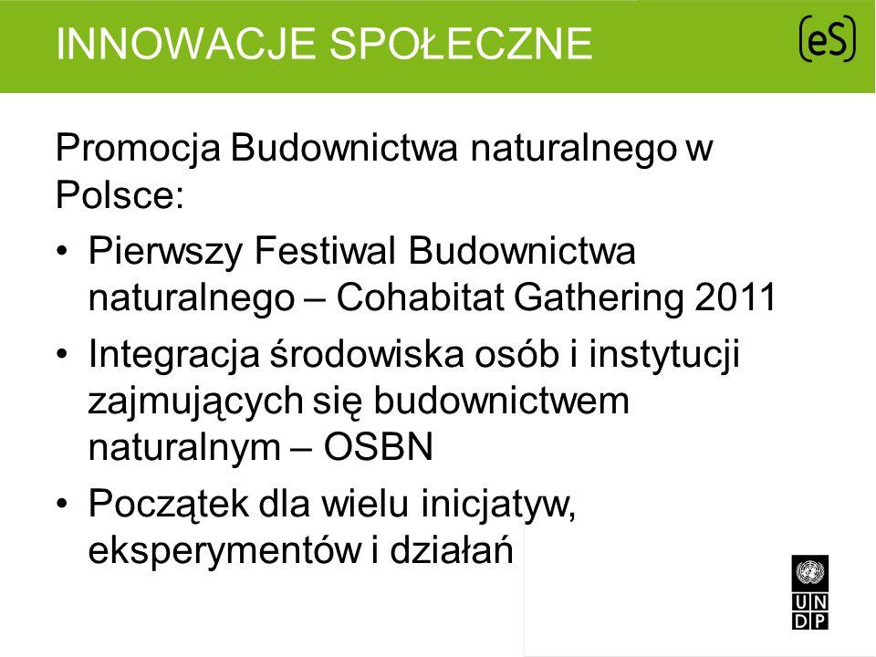 Innowacje Społeczne Promocja Budownictwa naturalnego w Polsce:
