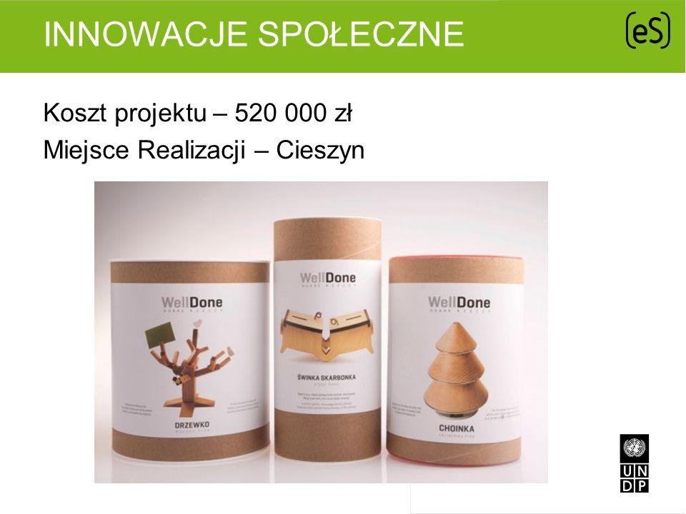Innowacje Społeczne Koszt projektu – 520 000 zł Miejsce Realizacji – Cieszyn