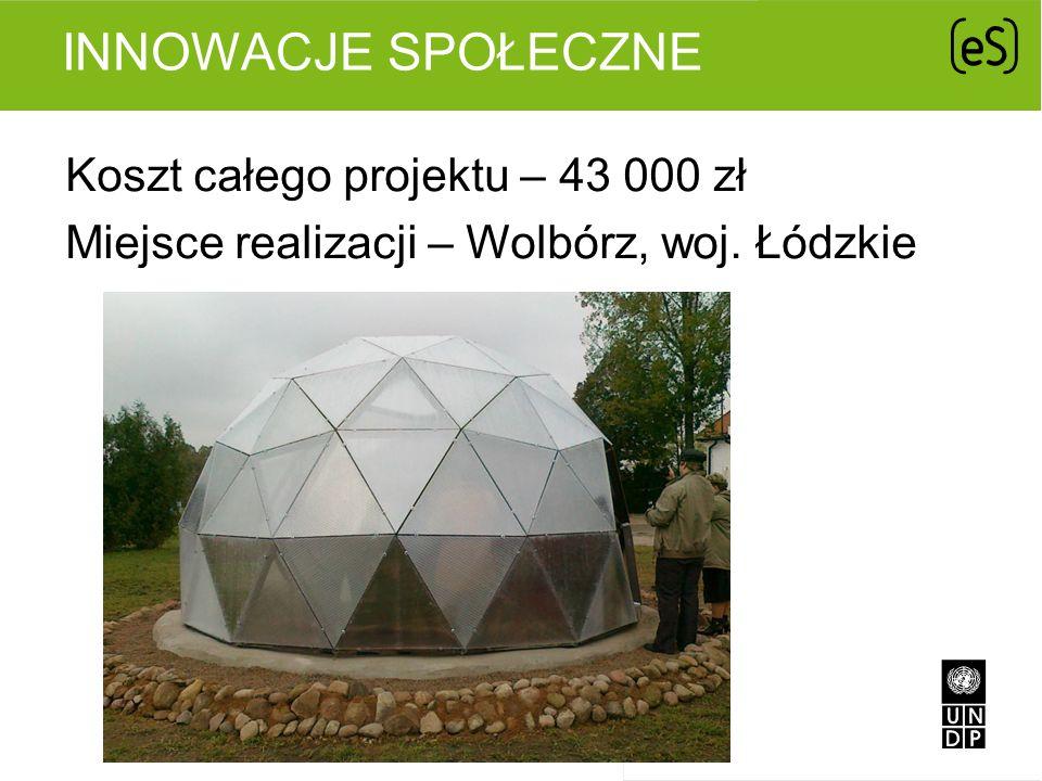 Innowacje społeczne Koszt całego projektu – 43 000 zł Miejsce realizacji – Wolbórz, woj. Łódzkie