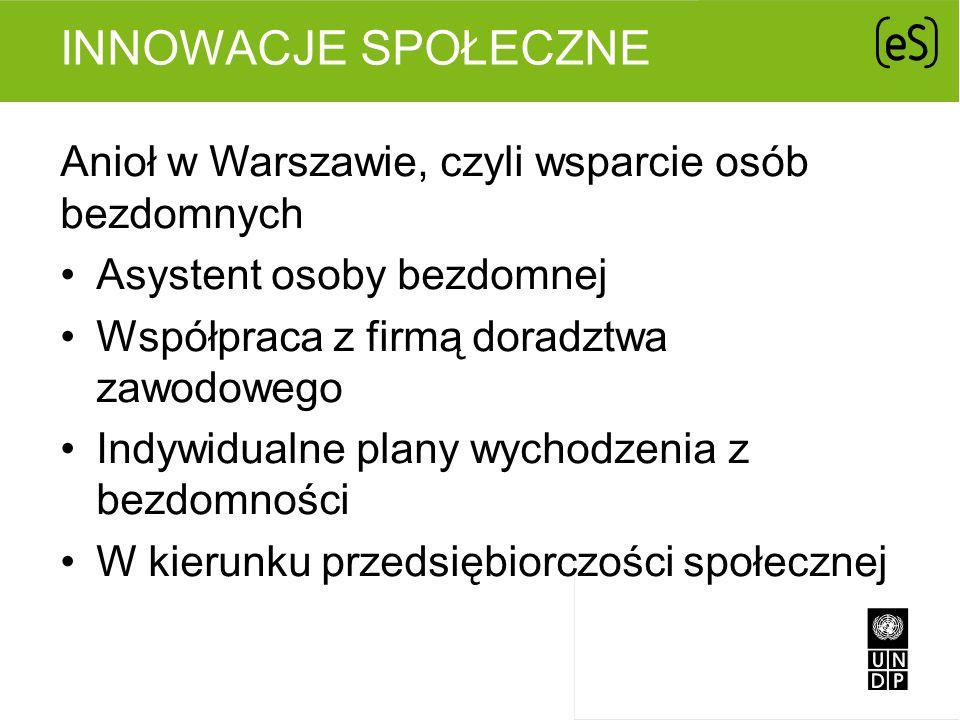 Innowacje społeczne Anioł w Warszawie, czyli wsparcie osób bezdomnych