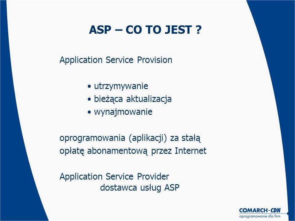 ASP – CO TO JEST Application Service Provision utrzymywanie